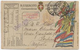 1919 POSTA MILITARE 143 FRANCHIGIA 1.2.19 TIMBRO VIOLA OSPEDALETTO DA CAMPO N. 43 X PORTICI (NA) OTTIMA QUALITÀ (6580) - 1900-44 Vittorio Emanuele III