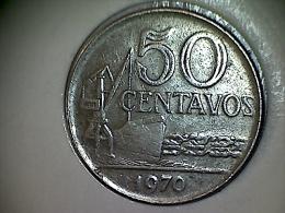 Brésil 50 Centavos 1970 - Brésil
