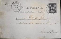 1879 - Sage - ENTIER POSTAL - CARTE POSTALE - Tournan 01.05.1879 - - Entiers Postaux
