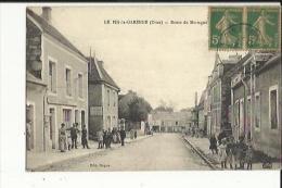 LLe Pin La Garenne  61    La Route De Mortagne -La Poste Et Rue Tres Tres Animée - Frankrijk