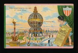 EXPOSITION UNIVERSELLE 1904 : ST. LOUIS U.S.A. ::  LE GLOBE GIGANTESQUE     - 2 SCANS - Esposizioni