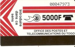 TARJETA DE TOGO DE 5000F - Togo