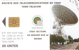 TARJETA DE TOGO DE 20 UNITES DE UNA ANTENA PARABOLICA PARA SATELITES (SATELLITE) - Togo