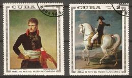 C U B A      -   Tableaux  De  NAPOLEON  BONAPARTE   /  UNIFORME  /  CHEVAL .   Oblitérés. - Napoleon
