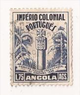 IMPERIO COLONIAL PORTUGUES ANGOLA 1,75 Bleu N° 282 Y T COLONIE PORTUGAL - Angola