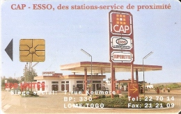 TARJETA DE TOGO DE 100 UNITES DE CAP - ESSO GASOLINERA - Togo