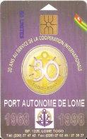 TARJETA DE TOGO DE 50 UNITES DE PORT AUTONOME DE LOME - Togo