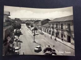 GIOIA TAURO - Largo Trieste, Auto, Animata - Cartolina FG BN V 1962 - Italia