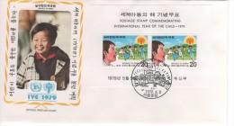 COREE ANNÉE INTERNATIONALE DE L ENFANT 1979 PREMIER JOUR FDC 05 05 1979  1 BF - Non Classés