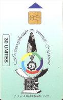 TARJETA DE BENIN DE FRANCOPHONIE VI SOMMET COTONOU  30 UNITES - Benin