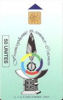 TARJETA DE BENIN DE FRANCOPHONIE VI SOMMET COTONOU  50 UNITES - Benin