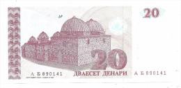 Macedonia 20 Dinara 1993 UNC .S. - Macedonia