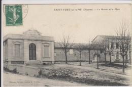 D16 - SAINT FORT SUR LE NE - LA MAIRIE ET LA PLACE - France