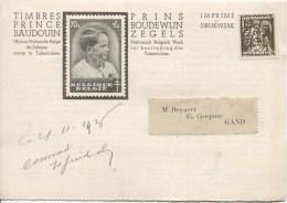 TP 337 Roulette BXL 1936 S/CP Publicitaire Pour Les TP Du Prince Baudouin V.Gand PR2101 - Precancels