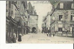 Luxeuil-les-Bains  70     La Grande Rue Bien Animée Et La Mairie Epicerie Et Café - Luxeuil Les Bains