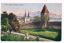 30045 ( 2 Scans )  Luzern  Mussegg Und Rigi - Switzerland