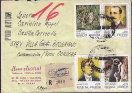 ARGENTINA REGISTERED COVER ANTARCTIC BASE, SEALS, PENGUINS GREAT POSTAGE AAE1926 - Non Classés