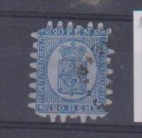 Finlande  //  N 8 // 20 P Bleu  //  Oblitéré  //  Côte 90 € - Gebraucht