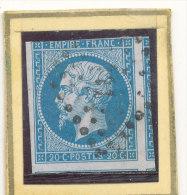 N°14 NUANCE ET OBLITERATION ( ET , OU VARIETE. ) - 1853-1860 Napoléon III