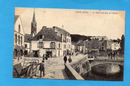 PONT AVEN Rue De L'église  Un Attelage-plan Animé -édition N D-années 1900-10 - Pont Aven