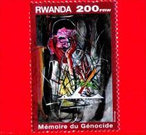 RWANDA - Usato - 1999 - Eventi Storici - In Ricordo Delle Vittime Del Genocidio - 200 - Rwanda