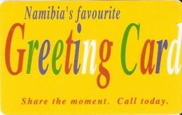 TARJETA DE NAMIBIA DE GREETING CARD  DE N$10