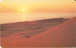 TARJETA DE NAMIBIA DE SUNSET OF THE COAST DE N$10 DESIERTO