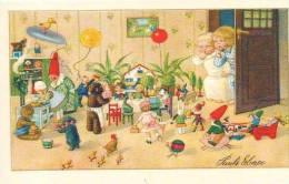 """16 Pauli Ebner Illustrateur D´enfants Grenouille Clawn Singe Chien Chat """"RIPRODUZIONE"""" 2003 - Ebner, Pauli"""