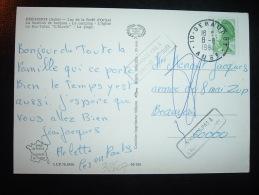 CP TP LIBERTE DE GANDON 1,70  OBL. 8-8-1984 10-GERAUMONT AUBE (10) - Manual Postmarks