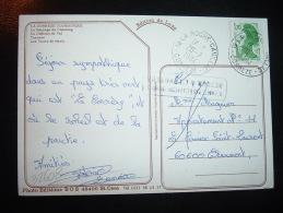 CP TP LIBERTE DE GANDON 1,70  OBL. 20-7-1984 19-LA ROCHE-CANILLAC CORREZE (19) - Manual Postmarks