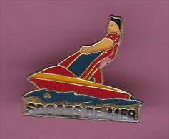 44436-Pin's.Jet Ski.sport De Mer.. - Water-skiing