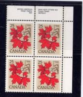 CANADA, 1977, # 719, TREE DEFINITIVES,   UR Block        MNH - Blocs-feuillets