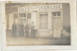 CAFE DE LA JEUNESSE Carte Photo Devanture Ardennes ?? - Cafés