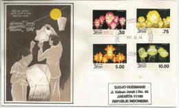 "SRI LANKA. ""Buddha's Birthday""  (lanternes Décoratives), Belle Lettre FDC Adressée En Indonésie - Buddhism"