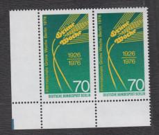 Berlin Michel Nr. 516 Mit Plattenfehler Philotax BF 41  - Postfrisches Eckrandpaar - Berlin (West)