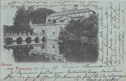 AK Gruss Aus Pyrmont Schloss Gelaufen 14.8.1898 Gel. In Schweiz Nachporto Ansehen !!!!!!!!!!! - Bad Pyrmont