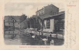 AK Bad Lippspringe Lippequelle Mit Trinkhalle Und Kurhaus-Mühle S/w Gelaufen 16.8.02 - Bad Lippspringe
