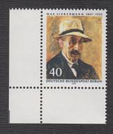Berlin Michel Nr. 434 Mit Plattenfehler Philotax BF 41  - Postfrischer Eckrand - Berlin (West)