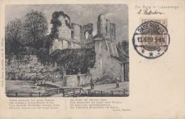 AK Die Burg In Bad Lippspringe S/w Gelaufen 13.6.09 - Bad Lippspringe