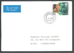 ! - 1994 - 1 Timbre Sur Lettre (obl) - De Grande-Bretagne (Edinburgh) Vers Belgique (Vierset-Ba) - Par Avion - 1952-.... (Elizabeth II)