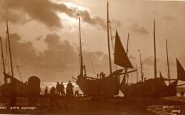 JUDGE'S REAL PHOTOGRAPHIC POSTCARD - SAFE ASHORE - No. 663 - FISHING BOATS - GOOD CONDITION - Fishing
