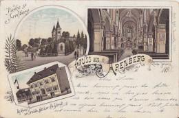Litho Gruss Aus Arenberg Gelaufen 22.12.1898 - Deutschland
