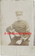 Carte Photo Précurseur-sergent Fourrier Du 38e Régiment-dolman Tresses Noires - War, Military