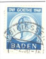 Bade: Yvert N° 50°, Goethe; Voir Le Scan; PETIT PRIX!!! A SAISIR!!! - Zone Française