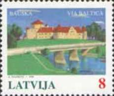 Latvia 1995 Mih. 395 Via Baltica Motorway Project (joint Issue Estonia-Latvia-Lithuania) MNH ** - Lettland