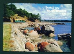 AUSTRALIA  -  Victoria Harbour  Granite Island  Unused Postcard As Scan - Victor Harbor