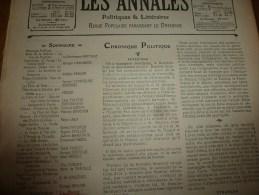 """1904 ANNALES P L :Guerre RUSSIE-JAPON,Liao-Yang;Chanson """"Armide"""";MARSEILLE-MARSEILLAIS; Eboulement De Falaise à Dieppe - Journaux - Quotidiens"""