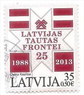 Latvia.2013.Popular Front Of Latvia  2013 Y  Used (o) - Lettland