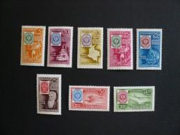 Colombia - Centenario Del Primer Sello Postal - Centenary Of First Colombian Stamp - 1959 - 8 Sellos Completa  - ** - Colombie