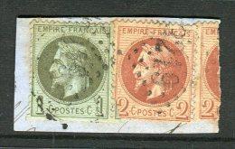 Petit Fragment Avec Les N° 25 & 26 - 1863-1870 Napoléon III Con Laureles
